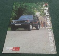 Feb 1984 COLT / MITSUBISHI UK SHOGUN SWB TD PETROL HARD SOFT TOP BROCHURE Pajero
