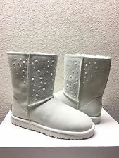 UGG CLASSIC SHORT EVERLASTING CRYSTAL PEARL WHITE BOOT US 7 / EU 38 / UK 5.5 NIB