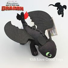 How to Train Your Dragon 2 Toothless Night Fury Plush Soft Toy Stuffed Animal 9""