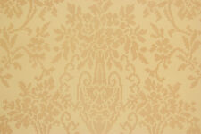 1930's Vintage Wallpaper Large Golden Yellow Damask on Yellow
