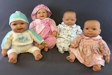 BERENGUER BABY DOLLS LOT CHUBBY FACED VINYL LIMBS CLOTH BODY 4 Dolls With Extras