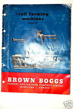 BROWN & BOGGS ROLL FORMING MACHINES Catalog  48 #RR252 Sheet Metal Slip Roll