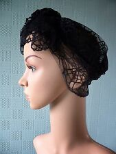 Gothic steampunk hair scarf, black lace bandana with spiders, gothic scarf /wrap
