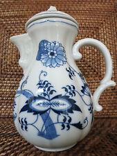 BLUE DANUBE Japan   Kaffeekanne  coffee tea pot  →  Zwiebelmuster