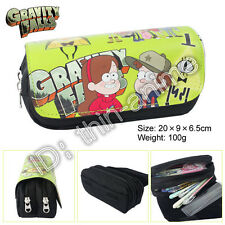 Gravity Falls Dipper And Mabel Pencil Case  Student's Pen Bag Cosmetic Bags Hot