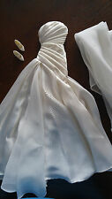 BARBIE PEARLY WHITE GOWN & WRAP  - 'DUCHESS OF DIAMONDS' - VERY BEAUTIFUL