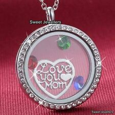 MOTHERS DAY DEALS - I Love You Mom Heart Locket Necklace Gifts For Her Mum Women