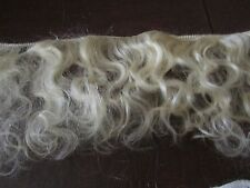 """AUTHENTIC ENGLISH MOHAIR WEFTING 3.5"""" - 4.5""""  x  39"""" (1M)   GOLDEN BLONDE"""
