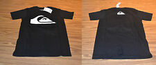 Quiksilver Boy's S/S T-Shirt-BLACK-Medium 10-12-NWT