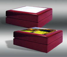 Red Mahogany Jewelry Boxes Sublimation