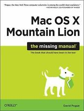 OS X Mountain Lion: The Missing Manual (Missing Manuals)