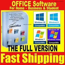 Open OFFICE Pro 2015 Word Processor Compatible With Microsoft Windows 2013 2010