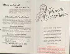 KÖLN-BRAUNSFELD, Prospekt 1936, A. Nattermann & Cie. Dr. Schieffer's Salz