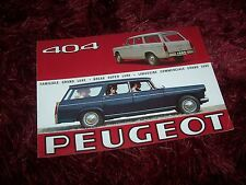 Catalogue / Brochure PEUGEOT 404 break / Familiale & Commerciale 1965