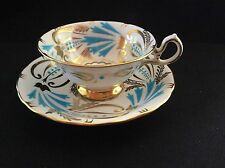 Royal Chelsea Turquoise Bird of Paradise Cup and Saucer