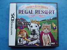 PAWS & CLAWS REGAL RESORT NINTENDO DS 2010 COMPLETE VG FRENCH & ENGLISH MANUAL