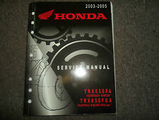 2003 2004 2005 Honda TRX650FA TRX650FGA Service Repair Factory Manual OEM NEW