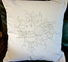 Christmas Bauble Freestyle Embroidery printed Cushion Cover  embroider CSO102