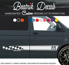 T4, T5, T6 VW Side Stripe Sticker Decal - Check Transporter Camper Van Graphic