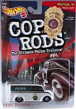 Hot Wheels Cop Rods Dairy Delivery Madison, WI Police Cruiser 1/64 MOC 1999