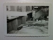 Vintage B&W Photo Electric Toy Train Set Baby Ruth Car Scalloped Edge Picture