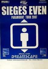 SIEGES EVEN - 2007 - Tourplakat - Paramount - Dreamscape - Tourposter