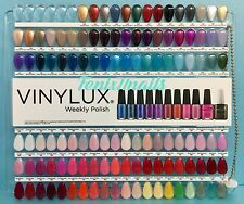 CND Vinylux Salon NAIL TIP COLOR CHART PALETTE 114 Sample Colors NEW Limited Ed