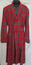 VINTAGE PLAID BATH LOUNGE ROBE BATHROBE USA MADE SOFT EC