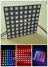 8*8 display Flexible LED Matrix WS2812B (8x8 Pixel) Full Color RGB Screen 5V DC