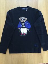 $395 NWT- Ltd. Ed. Black 2015 Ralph Lauren Polo Apres Ski Polo Bear Sweater MED.