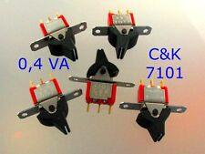 Schalter Kippschalter 1 x Um oder On - On 0,4 VA von C & K, USA    Bauelemente
