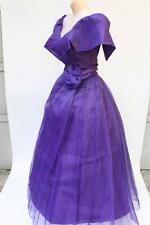 Vintage Southern Belle Gown Full Length Prom Dress Period Style Long Dress S