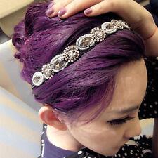 Donna Retrò Strass Accessorio Per Capelli In Strass Fascia-capelli Cristallo