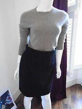 Emilio Pucci Black Knee Length Wool Skirt Size UK10 2662