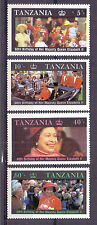 B983-Tanzania- Queen Elizabeth II, 60th Birthday-full set of 4 stamps-MNH