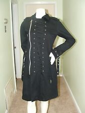Daang Tripp Steampunk Punk Emo Gothic Side Zipper Lace Up Corset Coat Jacket M