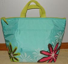 THIRTY ONE GIFTS ~ Turquoise w/ Daisy Craze ~ THERMAL TOTE ~NIP~ Retired Print!