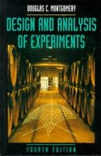 Design and Analysis of Experiments, 4th Edition, Montgomery, Douglas C., New Boo