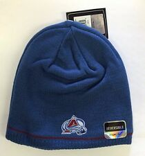 Colorado Avalanche Knit Beanie Toque Winter Hat Skull Cap Center Ice Reversible
