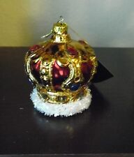 Robert Stanley KING MAJESTY HAT CROWN Christmas Glass Ornament