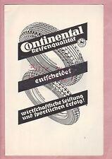 HANNOVER, Anzeige 1935, Continental Reifen Motorrad Kfz Automobile