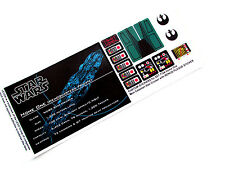 CUSTOM REPLACEMENT STICKERS for STAR WARS Lego 7754 HOME ONE + PLAQUE STICKER