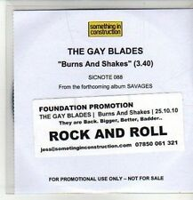 (CM874) The Gay Blades,  Burns And Shakes - 2010 DJ CD