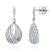 BERRICLE Sterling Silver Woven Fashion Dangle Drop Earrings