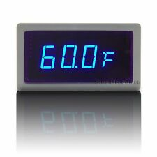 "0.56"" Auto Car Meter Thermometer Digital Blue LED Ext. DS18B20(-67~257°F)"