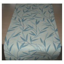 "NEW 72"" Table Runner 180cm Laura Ashley Willow Leaf Seaspray Blue Leaves 6ft"