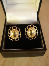 PAIR OF 9 CARAT GOLD FANCY STUD EARRINGS MADE IN UK BRAND NEW PURE QUALITY