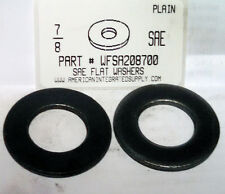 "7/8"" SAE Flat Washers Steel Plain, 15/16""IDx1-3/4""OD. Nominal (10)"
