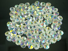 Premiun Acrylic Crystal Diamond Snowflake Sew On Button Fabric Iridescent Silver