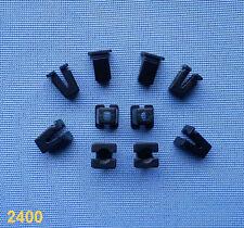 (2400) 10x Verkleidung Clips Befestigung Klips Halter Clip Universal schwarz